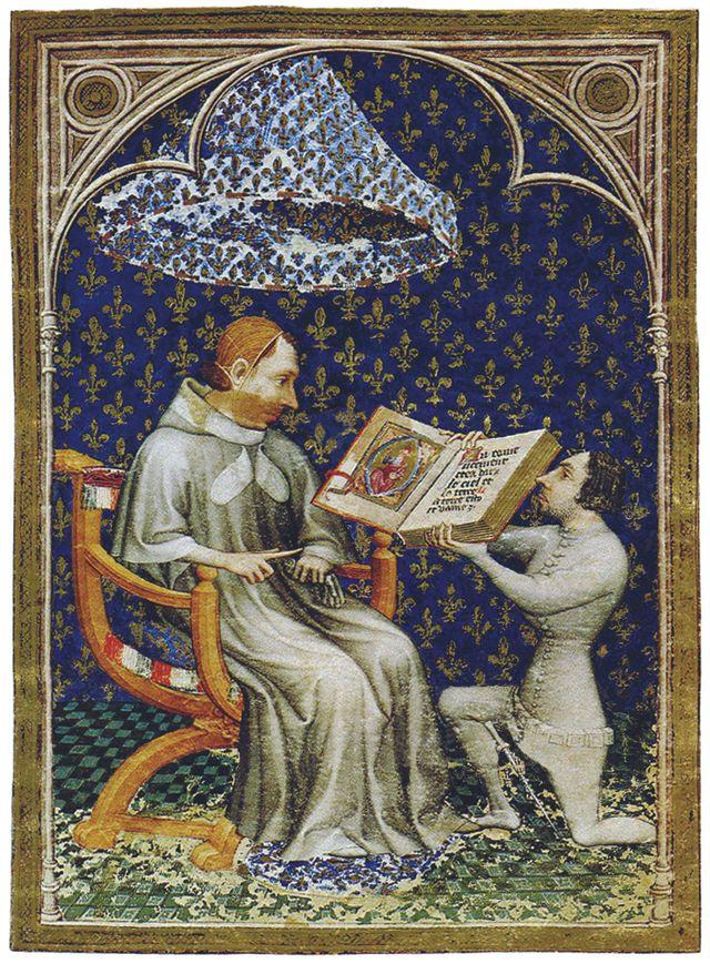 Charles V recevant de Jean de Vaudetar la bible historiale de 1372 copiée par Raoulet d'Orléans - Museum Meeermanno-Westreeenian