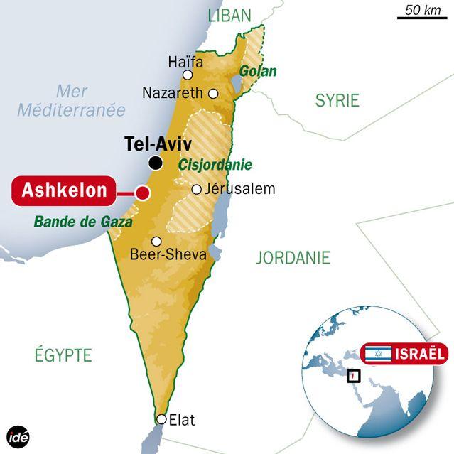 Tir d'une roquette depuis la bande de Gaza