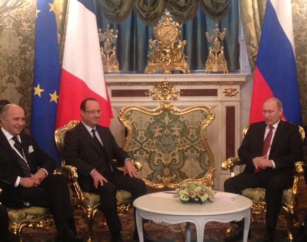 François Hollande et Vladimir Poutine à Moscou