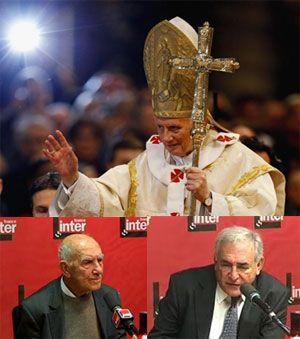 Benoït XVI, Stéphane Hessel et DSK