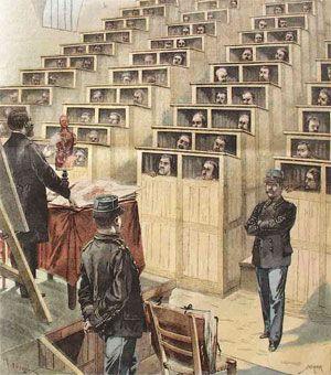 """""""Chapelle cellulaire"""" à la prison de Fresnes. Supplément illustré du journal """"Le Petit Parisien"""", le 22 mars 1903."""