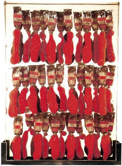Arman, 1967, Rouge est la couleur