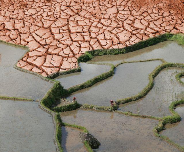 Climat terre craquelée