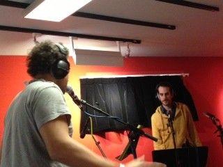 Mike Ladd et Antoine Berjeaut dans le studio 61 de France Inter