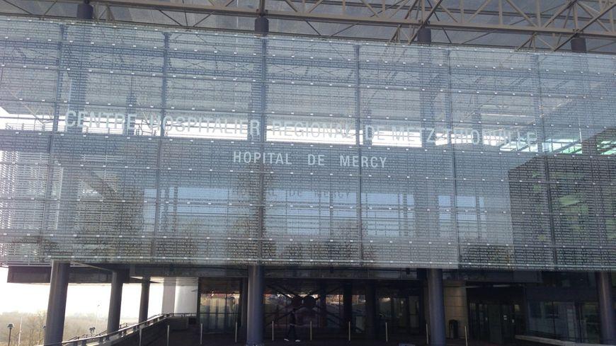 La facade de l'hôpital de Mercy, à Metz.