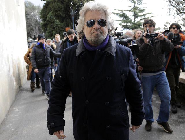 Beppe Grillo, le leader du M5S, le Mouvement 5 étoiles