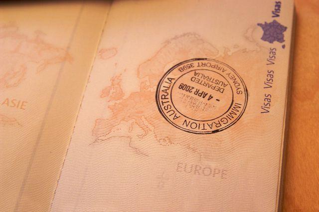 Page de passeport