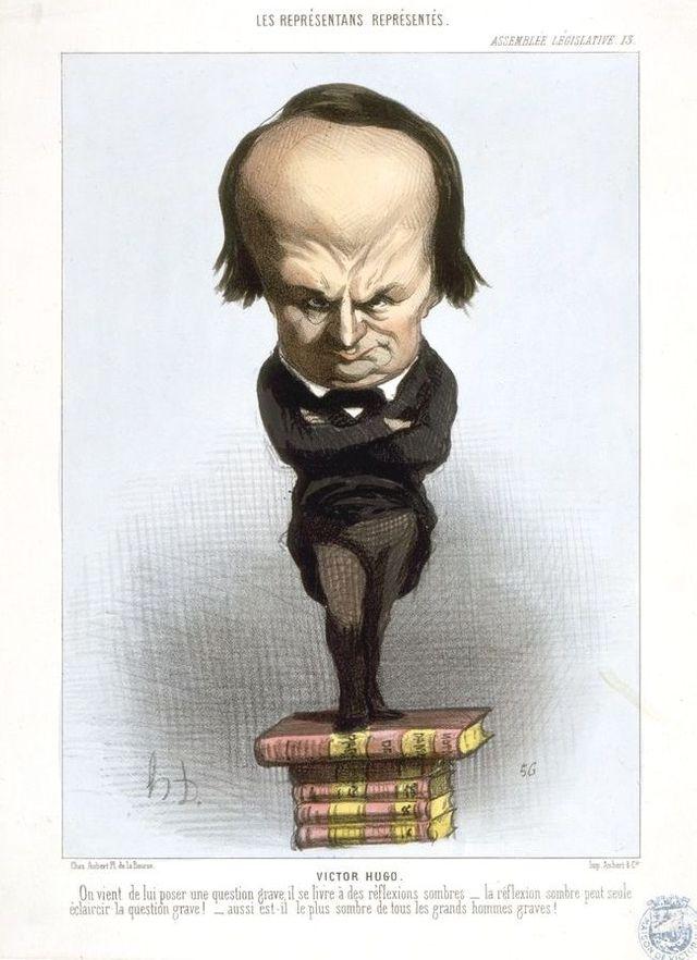 """""""Les représentants représentés"""" - Caricature de Victor Hugo par Daumier - Le Charivari n° 201du 20 juillet 1849"""