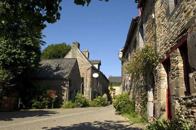 Centre ville de La Gacilly (Morbihan)