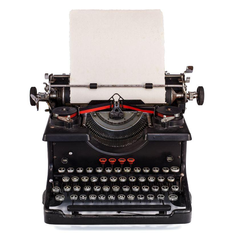 Ancienne machine à écrire hollandaise