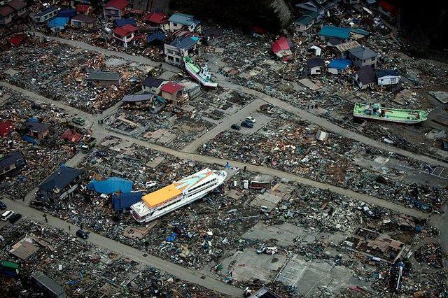 Les cotes japonaises après le passage du Tsunami