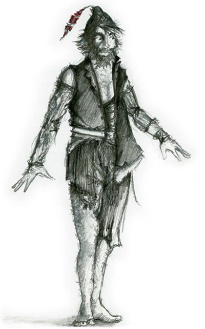 Croquis de costume de Laurent Pelly