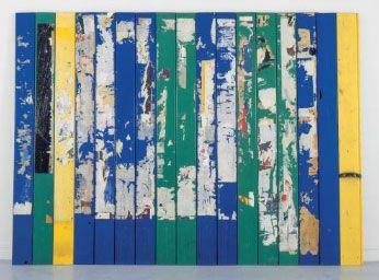Raymond Hains, Palissage 1976 Affiches lacérées, lattes plastiques