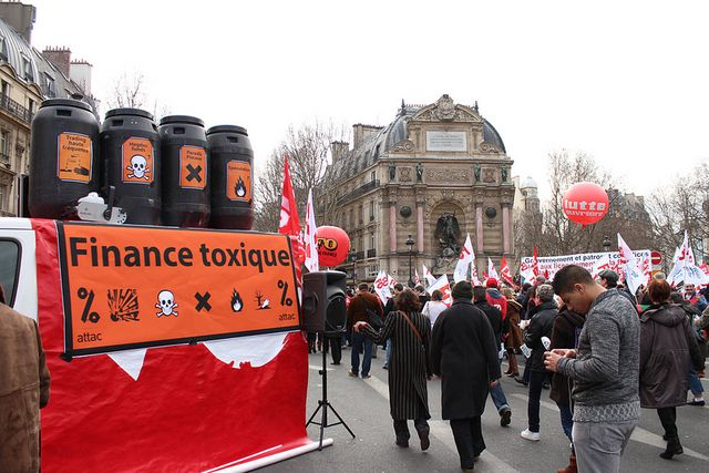 Paris, le 5 mars 2013, manifestation contre l'accord national interprofessionnel