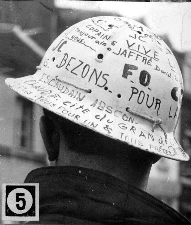 Grève des mineurs dans la Pas-de-Calais (Lens) en mars 1963