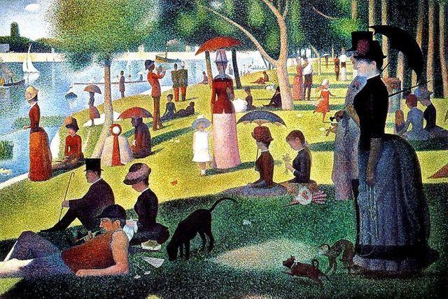 Un dimanche après-midi à l'Île de la Grande Jatte de Georges Seurat - 1884-1886