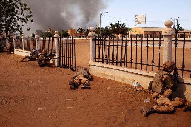 Mali, les soldats français se battent à Gao
