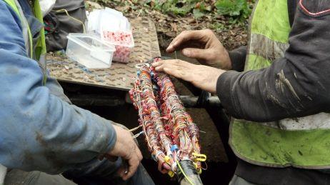 Le kilomètre de câble volé pourra trouver preneur à plusieurs milliers d'euros sur le marché parallèle du cuivre