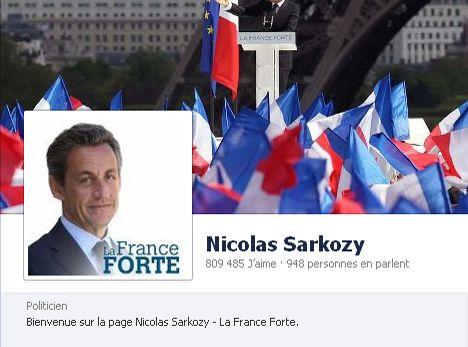 Nicolas Sarkozy sur Facebook