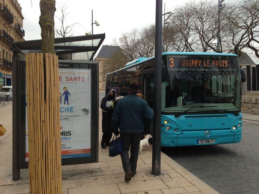 Illustration des bus TCRM à Metz.