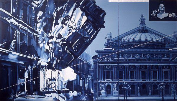 Opéra Furia « A », n°8 - 1975 huile sur toile 195 x 342 cm - Collection privée