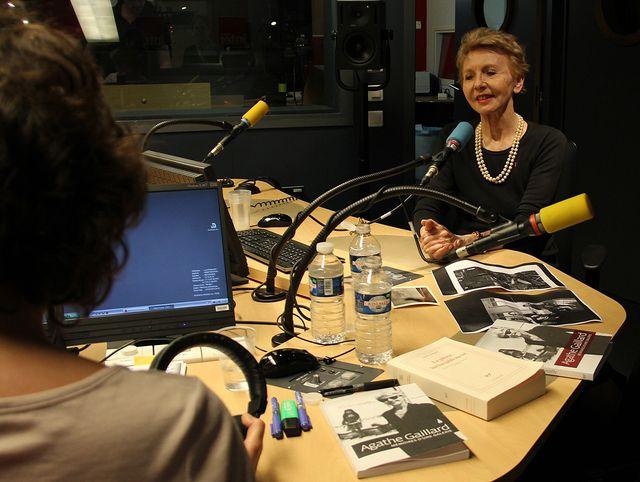 Agathe Gaillard en studio