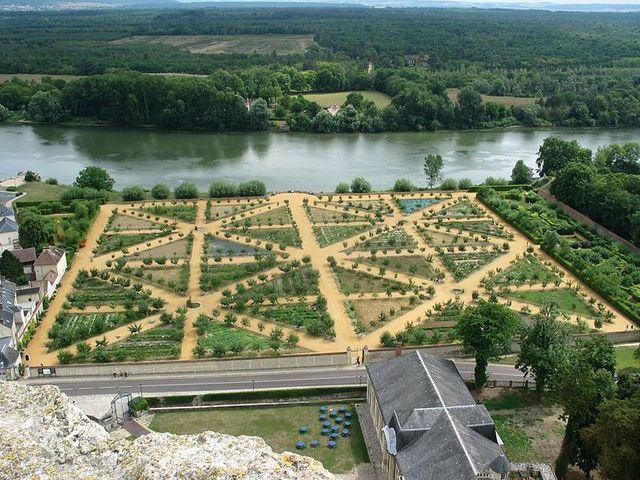 Le potager du Château de la Roche-Guyon
