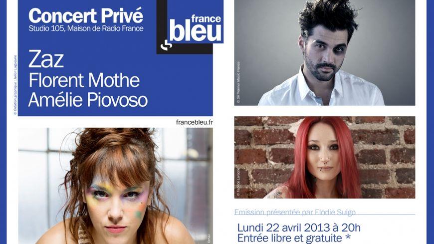Zaz, Florent Mothe et Améle Piovoso en Concert Privé