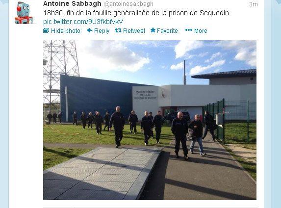 Le tweet d'Antoine Sabbagh, journaliste France Bleu Nord