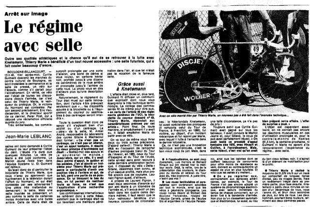 Les selles révolutionnaires de 1986