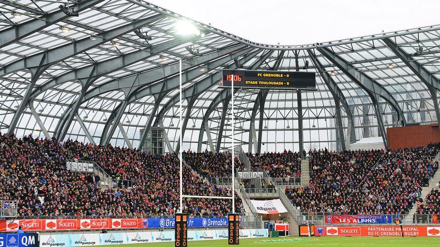 Rugby : FCG - Stade Toulousain, au Stade des Alpes