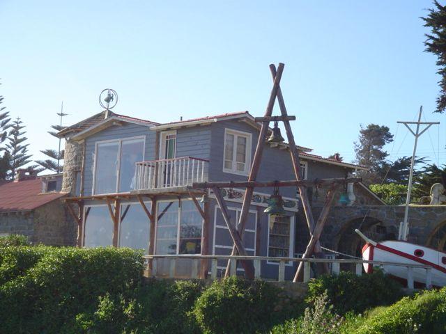 La maison du poète de Isla Negra sur la côte pacifique chilienne