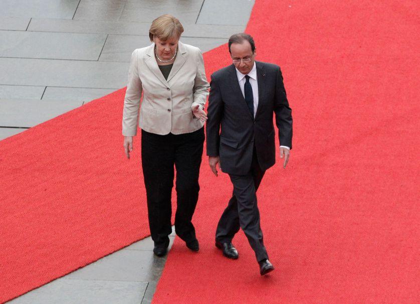 Angela Merkel François Hollande à berlin le 15 mai 2012