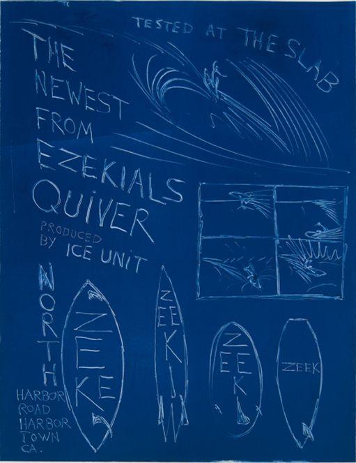 « Zeek's Quiver ». 2000. Monotype. Encre sur papier - Russell Crotty