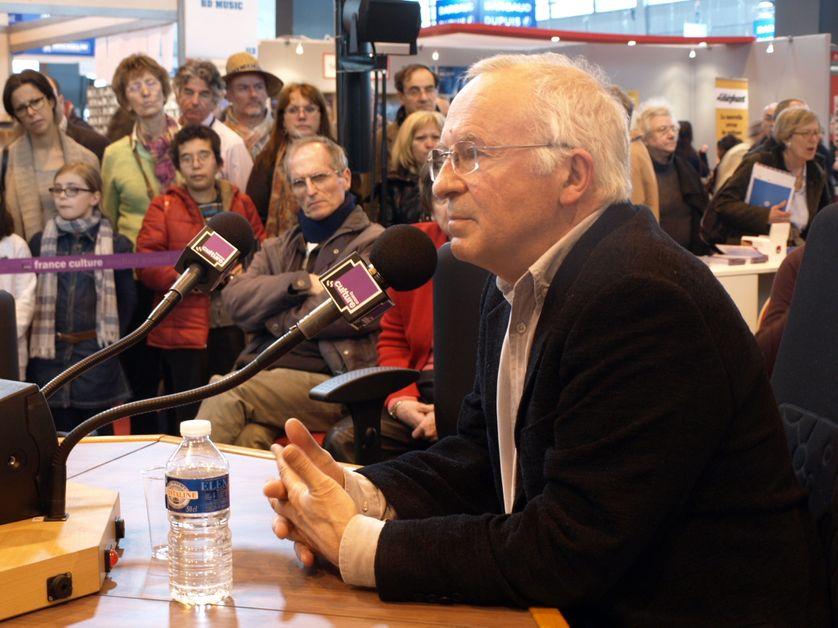 François Dubet, sociologue, au Salon du Livre (mars 2013).