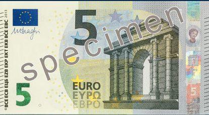 Nouveau billet de cinq euros