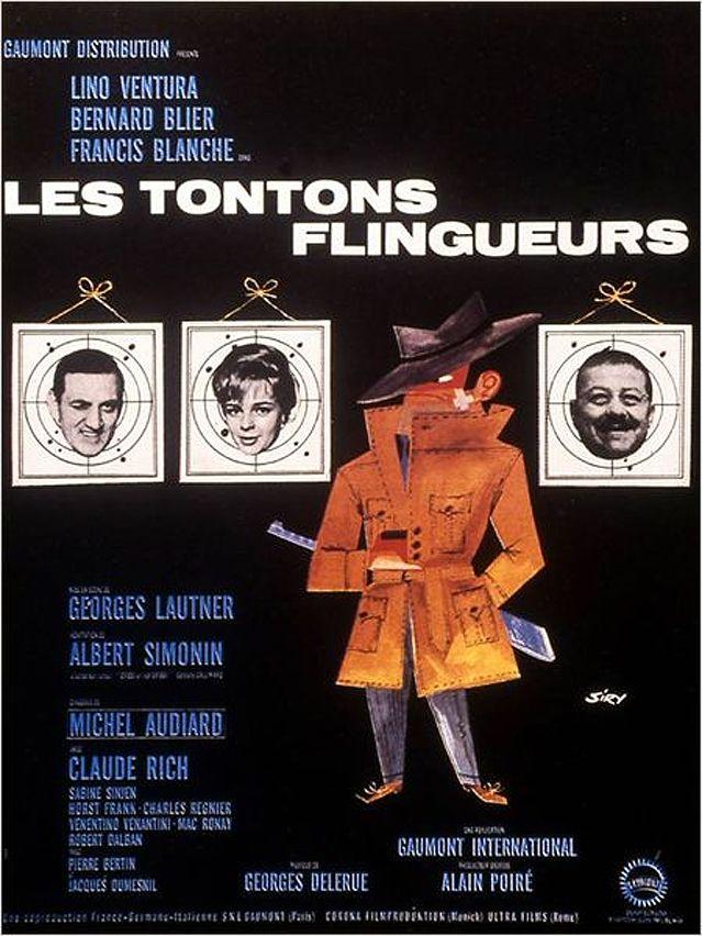 """Affiche du film """"Les Tontons flingueurs"""" - 1963"""
