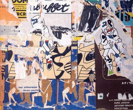 Villeglé  1975 rue du grenier Saint-Lazare