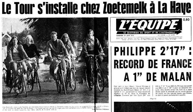 Le Tour part des Pays-Bas, 1973