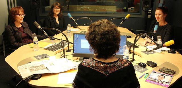 Armelle Canitrot, Marie Karsenty et Claudia Zels en studio