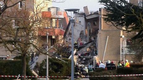 L'immeuble de Witry-les-Reims après l'explosion