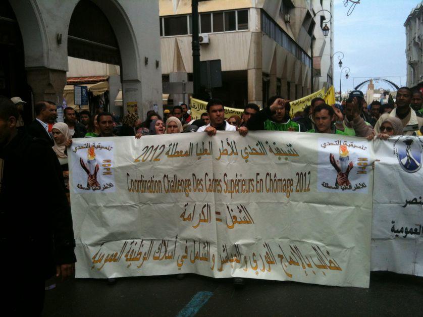 MAnifestation devant l'Assemblée Nationale à rabat