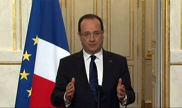 François Hollande lors de sa déclaration officielle sur l'affaire Cahuzac et les suites