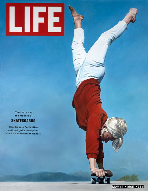« Cover of LIFE Magazine, may 1965 ». 2010. Huile sur toile - Benjamin Chasselon