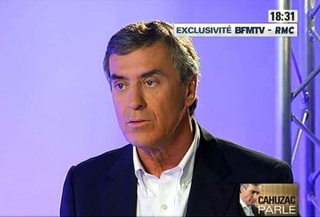 Jérôme Cahuzac sur BFM TV