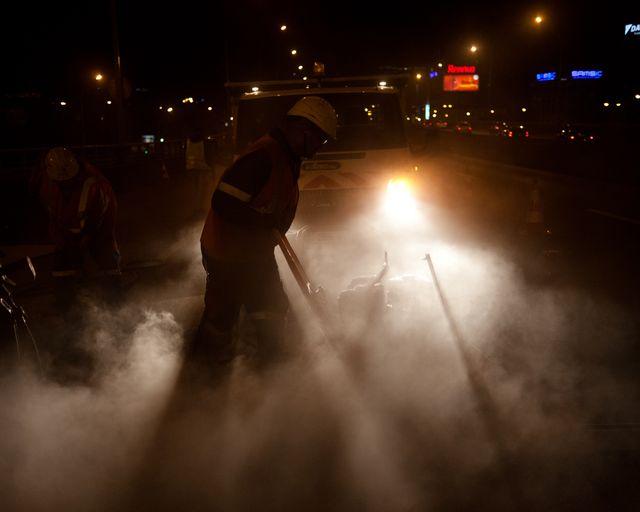 Les équipes s'occupent de la maintenance sur le périphérique durant la nuit