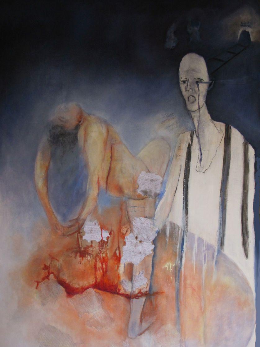 Ton Lucien pour la Vie (Huile sur toile, 195x130cm, 2012)