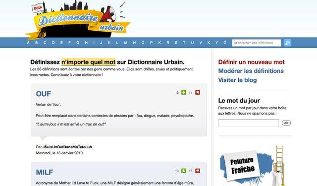 Dictionnaire urbain