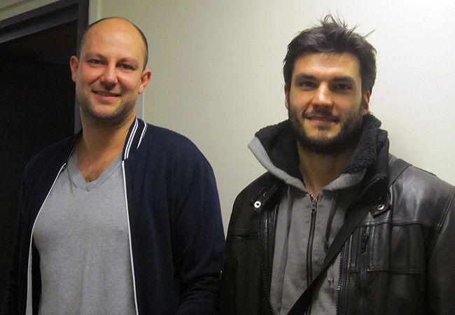 David Seigneur (Comédien) et Julien Guyomard (auteur et metteur en scène)