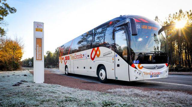 Les e-cars équipent déjà la ligne 601 Bordeaux-Lège-Cap-Ferret.